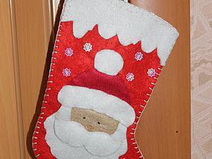 Мастер-класс: новогодний сапожок с Дедом Морозом. Ярмарка Мастеров - ручная работа, handmade.