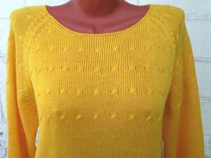 Пуловер желтый. Ярмарка Мастеров - ручная работа, handmade.