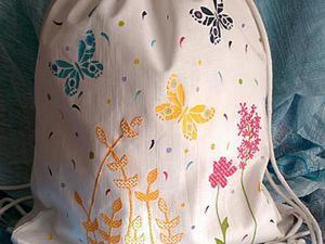 Декорируем текстильный рюкзачок. Ярмарка Мастеров - ручная работа, handmade.