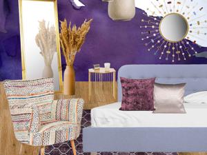 Фиолетовая спальня. Ярмарка Мастеров - ручная работа, handmade.
