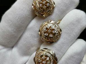 Золотой гарнитур с бриллиантами. Ярмарка Мастеров - ручная работа, handmade.