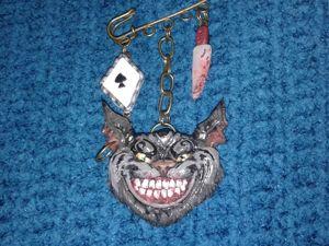 Создаем готическую брошь «Чеширский кот» из запекаемой глины. Ярмарка Мастеров - ручная работа, handmade.