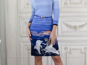 Аукцион на Меланжевое вязаное платье! Старт 4500 руб.!. Ярмарка Мастеров - ручная работа, handmade.