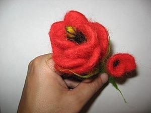 Валяем «Аленький цветочек». Ярмарка Мастеров - ручная работа, handmade.
