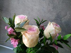 Супер цена на нежный букет роз. Ярмарка Мастеров - ручная работа, handmade.