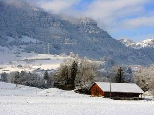 С наступающим! Новогодние альпийские пейзажи. Ярмарка Мастеров - ручная работа, handmade.