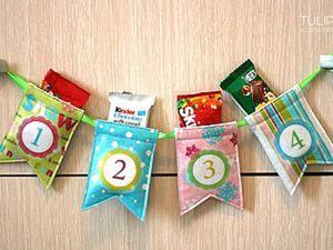 Как легко и быстро сделать адвент-календарь в виде гирлянды. Ярмарка Мастеров - ручная работа, handmade.