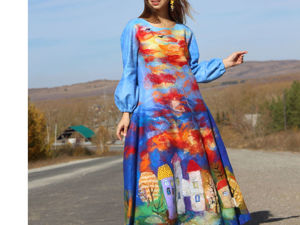 Платье  «Роскошная Осень». Ярмарка Мастеров - ручная работа, handmade.