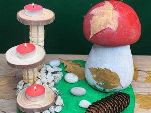 Делаем грибную полянку из бетона! Видео мастер-класс. Ярмарка Мастеров - ручная работа, handmade.