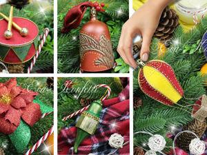 Ёлочные игрушки в ретро-стиле своими руками. Ярмарка Мастеров - ручная работа, handmade.