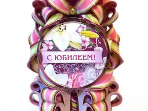 Резные свечи с надписью и рисунком. Ярмарка Мастеров - ручная работа, handmade.