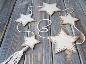 Делаем звёздную гирлянду из гофрокартона. Ярмарка Мастеров - ручная работа, handmade.