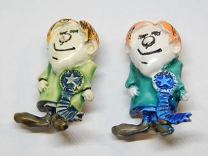 """Винтаж: HAR Винтажная брошь """"Интеллигент"""" из серии """"Маленькие люди"""". Ярмарка Мастеров - ручная работа, handmade."""