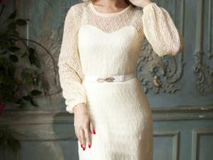 Аукцион на Очаровательное ажурное платье! Старт 3000 руб.!. Ярмарка Мастеров - ручная работа, handmade.