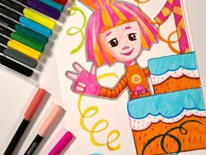Рисование для детей: рисуем фиксика Симку. Ярмарка Мастеров - ручная работа, handmade.