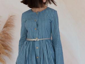 Обзор льняного платья в полоску. Ярмарка Мастеров - ручная работа, handmade.