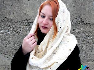 Новинка! Валяный шарф-снуд  «Айвори» — видео и фото. Ярмарка Мастеров - ручная работа, handmade.