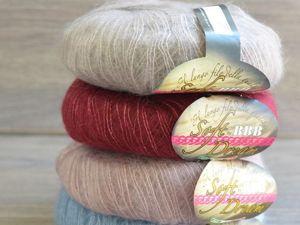 Выбор цветов кид мохера для шали. Ярмарка Мастеров - ручная работа, handmade.