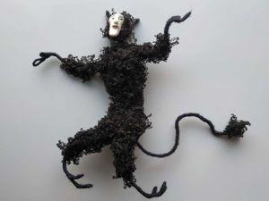 Черный кудрявый черт. Ярмарка Мастеров - ручная работа, handmade.