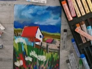 Как рисовать пастелью на наждачной бумаге?. Ярмарка Мастеров - ручная работа, handmade.