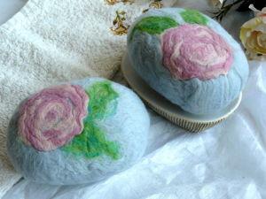 Новинка. Сувенирное мыло-мочалка из шерсти. Ярмарка Мастеров - ручная работа, handmade.
