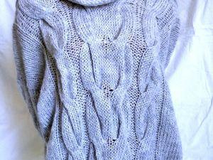Нежнейший серый свитер появился в наличии!. Ярмарка Мастеров - ручная работа, handmade.