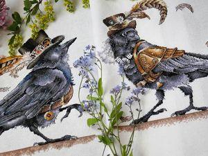 Ворон и дама его сердца. Ярмарка Мастеров - ручная работа, handmade.