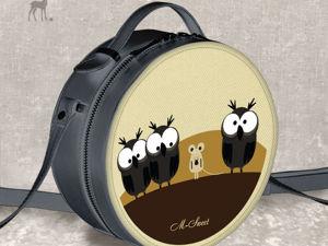 Прикольная сумочка с совами из клипа. Ярмарка Мастеров - ручная работа, handmade.