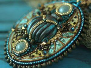 Колье и серьги  «Древний Египет». Ярмарка Мастеров - ручная работа, handmade.