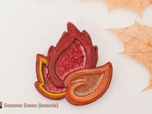 Создаем брошь-кулон «Краски осени» из полимерной глины с красками Pebeo Prisme. Ярмарка Мастеров - ручная работа, handmade.