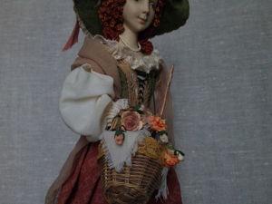 Кукла на подставке с музыкальным механизмом. Ярмарка Мастеров - ручная работа, handmade.