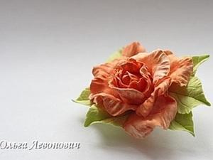Мастер-класс по лепке розочки из самозатвердевающей глины. Ярмарка Мастеров - ручная работа, handmade.