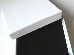 Новинка в магазине: белые плотные коробочки 9х9х3 см. Ярмарка Мастеров - ручная работа, handmade.