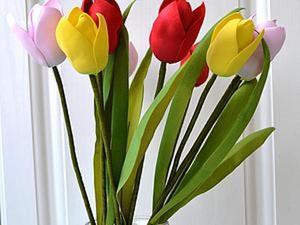 Создаем закрытый тюльпан из фоамирана. Ярмарка Мастеров - ручная работа, handmade.