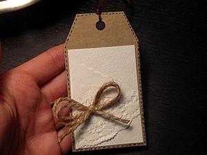 Делаем бирочку-тег на подарок. Часть 1. Ярмарка Мастеров - ручная работа, handmade.