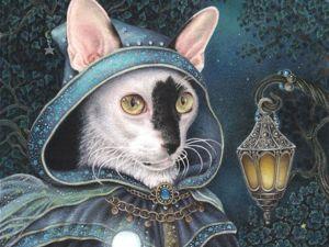 """По мотивам картины Энни Стег 'Blue Wizard"""". Ярмарка Мастеров - ручная работа, handmade."""
