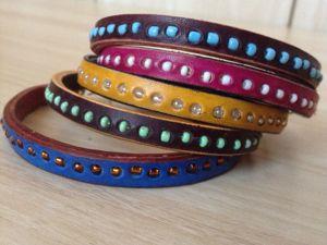 Кожаные браслеты с бисером, новая работа в магазине. Ярмарка Мастеров - ручная работа, handmade.