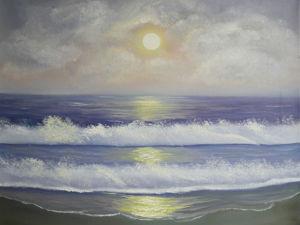 Видео с картиной  «Сиреневый закат». Ярмарка Мастеров - ручная работа, handmade.