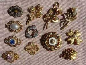 Уроки стиля. Учимся носить броши: золото и перламутр. Часть 1. Ярмарка Мастеров - ручная работа, handmade.