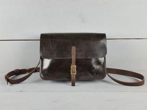 Шьем из кожи сумку-унисекс. Ярмарка Мастеров - ручная работа, handmade.