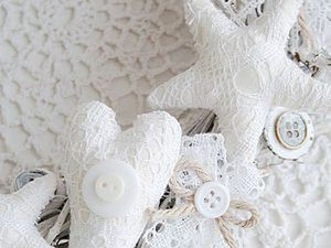 How to Make a Shabby Interior Wreath with Stars. Livemaster - handmade
