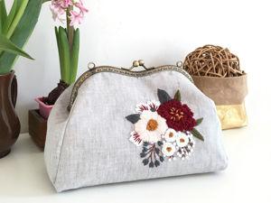 Шьем сумку с пришивным фермуаром. Ярмарка Мастеров - ручная работа, handmade.