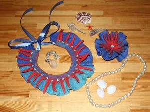 Валяем колье и брошь «Коралловый риф». Ярмарка Мастеров - ручная работа, handmade.
