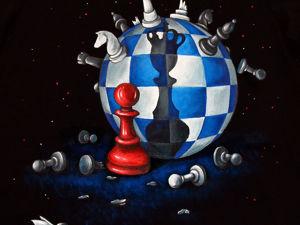Роспись  «Король стратегий»  (футболка для шахматиста). Ярмарка Мастеров - ручная работа, handmade.