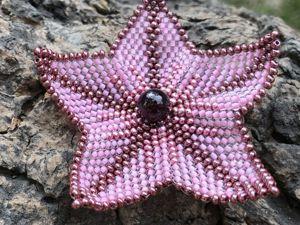 Плетем цветок из бисера. Ярмарка Мастеров - ручная работа, handmade.