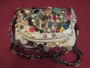Декорируем сумку разноцветными пуговицами. Ярмарка Мастеров - ручная работа, handmade.