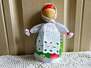 Мастерим народную куклу на ложке. Ярмарка Мастеров - ручная работа, handmade.