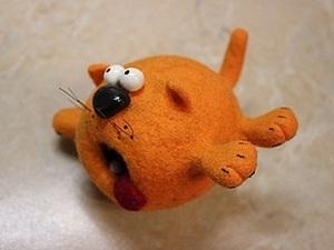 """""""Весеннее обострение"""". Или валяем рыжего кота.. Ярмарка Мастеров - ручная работа, handmade."""