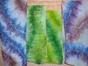 Расписываем шарф в узелковой технике. Ярмарка Мастеров - ручная работа, handmade.