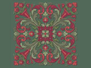 Узор для подушки. Бесплатная схема для вышивания. Ярмарка Мастеров - ручная работа, handmade.